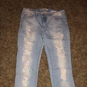 Distressed KanCan skinny jeans